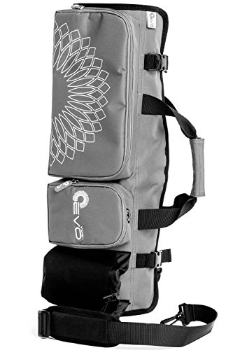 Yoga EVO Yoga Mat Bag with Open Ends, Mobile Pocket and Water Bottle Holder - Keeps Your Mat Dry and Odorless (Shadow Gray)