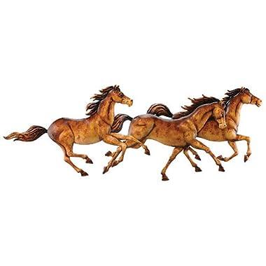 Running Wild Horses Metal Wall Hanging
