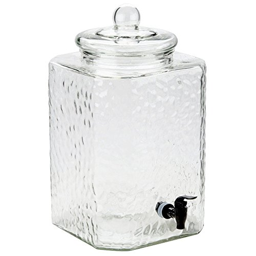 5 gallon glass drink dispenser - 5