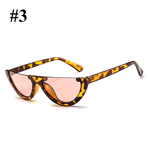 Hanbaili Vintage Eye Cat Eyewear Sunglasses medio print Leopard para and Mujer slices Ladies marco Sexy Moda champagne TTU4dWrqR