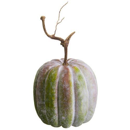 13''Hx7''W Artificial Weighted Pumpkin -Antique Green (pack of 6) by SilksAreForever