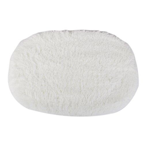 Schlafzimmer Flauschigen Teppich Matte Kunstfell Teppichbodenbelag Rutsch (Weiß)
