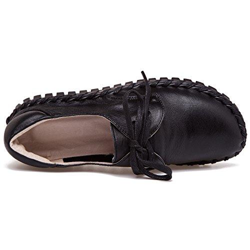Mode Cuir Décontractée Shenn Travail Femmes Espace Noir Confort Baskets AXwx0pT6qx