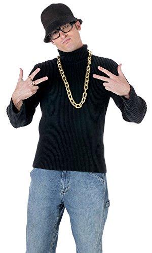 Old School Rapper Costume Kit Hat Glasses Necklace Ring Hip Hop (Old School Rap Costumes)