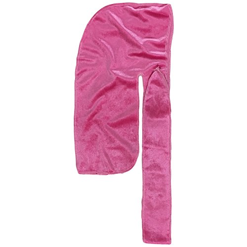 Price comparison product image The Mane Durag - (Pink) Velvet Durag for 360, 540 and 720 Waves - Extra Long, Wide Straps - Extra Compression Wave Cap - Excellent Wave Brush Accessory!