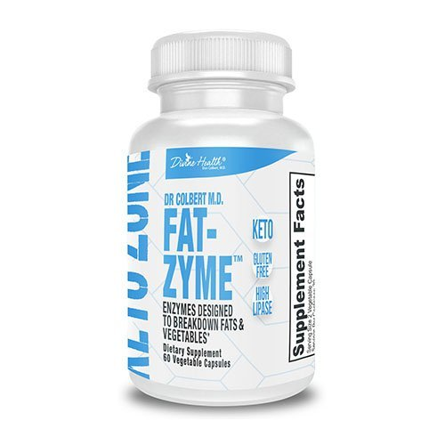 Dr. Colbert's Keto Zone Fat-Zyme - Ketogenic Digestive Enzymes - HIgh Lipase - Vegan & Vegetarian Enzyme - 30 Day Supply - Contains High Quantities of Enzymes That Break Down Veggies & Fats