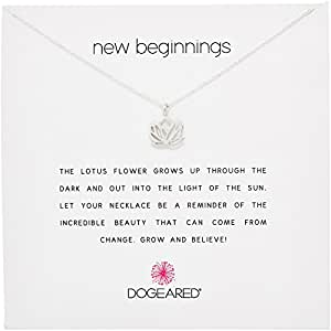 Dogeared jewels gifts reminder silver new beginnings rising lotus image unavailable mightylinksfo