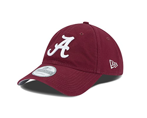 Ncaa New Era - New Era NCAA Alabama Crimson Tide Unisex NCAA Core Shore Primary 9TWENTY Adjustable Cap, Maroon, One Size