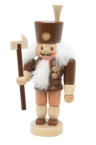 German Christmas Nutcracker Miner natural colors - 11cm / 4 inch - Christian Ulbricht by Authentic German Erzgebirge Handcraft