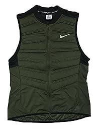 Nike Mens Aeroloft 800 Running Vest Down Fill (X-Large, Cargo Khaki)