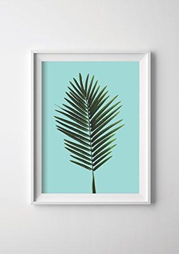 Fern Leaf Print on Mint 8x11.5 ()