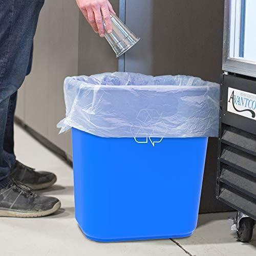 STX00714U06C Storex Medium Recycling Basket Case of 6 Blue 15 x 10.5 x 15 Inches