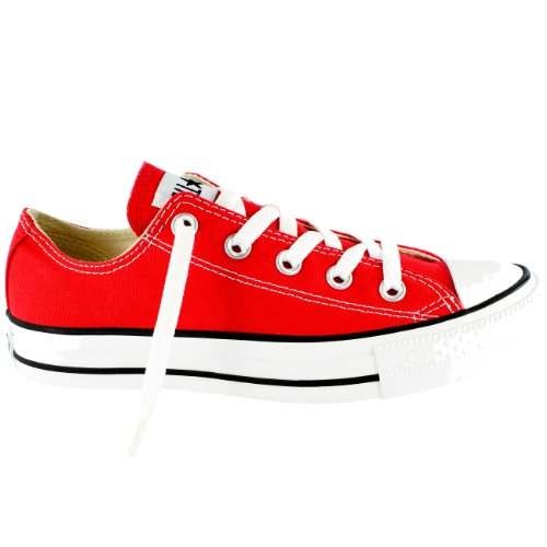 Womens Converse All Star Ox Low Chuck Taylor Chucks Sneaker Trainer - Red - (Chuck Taylor Trainer)
