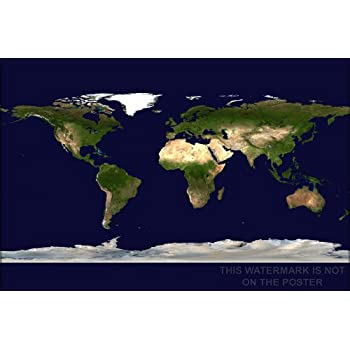 Amazon world satellite map 24x36 poster prints posters world satellite map 24x36 poster gumiabroncs Image collections