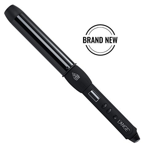 L'ange Hair LUSTRÉ Curling Wand, Tourmaline Ceramic and Titanium Barrel Wands with Heat-Protection Gloves Negative Ion and Infrared Tech, Dual Voltage Iron MSRP $169 (Black 1.25'' (32MM) Ceramic) by L'ANGE HAIR