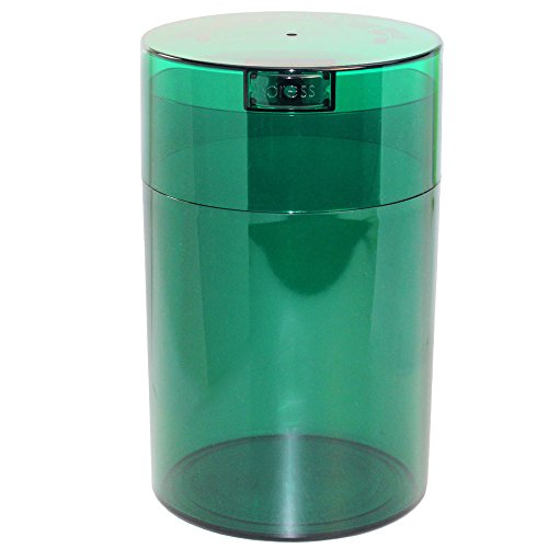 Coffeevac 1 lb - The Ultimate Vacuum Sealed Coffee Container, Green Tint Cap & Body