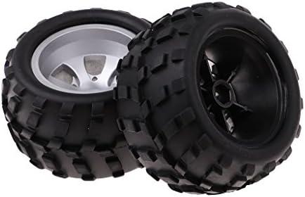 WLtoys A979RCカー適用 ゴム ホイール タイヤ ホイールリム 金属+プラスチック 材質 2個入り