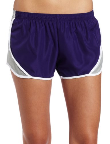 Soffe Juniors Team Shorty Short, Purple/Silver, ()
