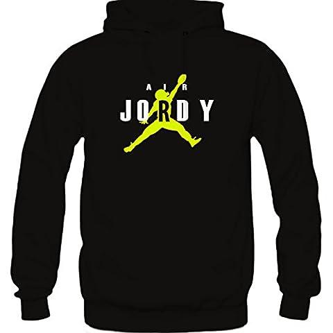 Air Jordy Green Bay Hoodie Large Black (Packer Jordy)