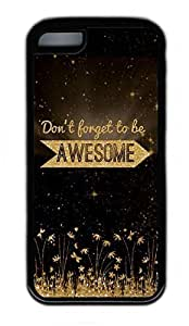 iPhone 5C Case, Personalized Protective Rubber Soft TPU Black Edge Case for iphone 5C - Awesome Cover