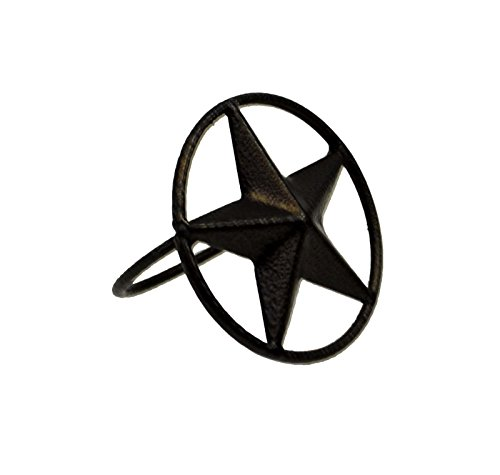 Set of 6, Iron Napkin Ring Star Symbol-2 INCHES in - Star Irons Texas