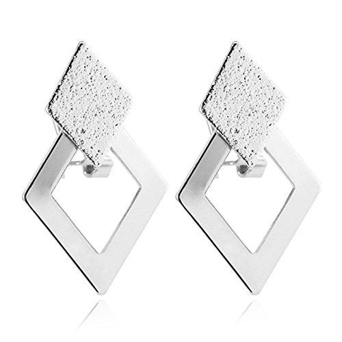 U7 Gold Plated Rhombus Earrings