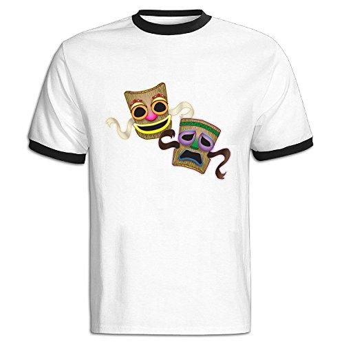 Custom Men's Two-toned Cool Mask Tshirt Black Size - Sunglasses Danish