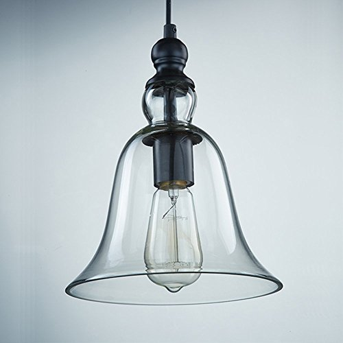 WINSOON-Ecopower-1-Light-Vintage-Hanging-Big-Bell-Glass-Shade-Ceiling-Lamp-Pendent-Fixture