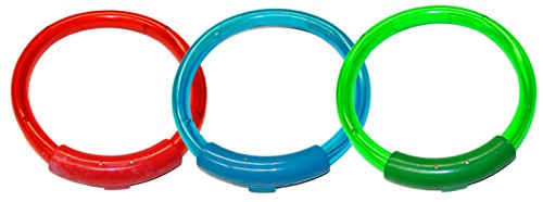 - Water Sports Lighted Dive Rings Pool Accessory, Assorted