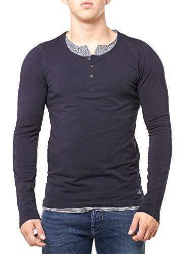 Scotch & Soda Longsleeve Men DOUBLE LAYER GRANDAD 101609 Dunkelblau 02