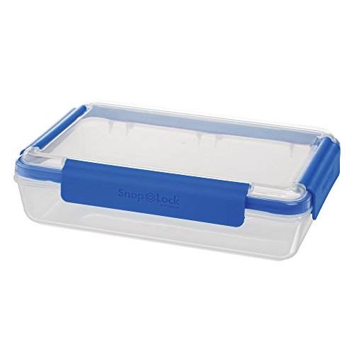 SnapLock by Progressive 8-Cup Storage Container - Blue, SNL-1009B Easy-To-Open, Leak-Proof Silicone Seal, Snap-Off Lid, Stackable, BPA FREE