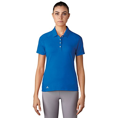 adidas Golf Women's Essentials Novelty Short Sleeve Polo T-Shirt, Blue, Small