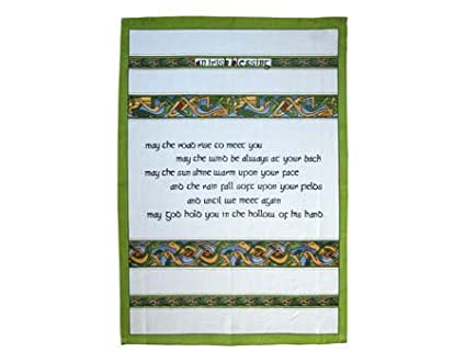 1 Tea Towel - Irish Blessing - Irish Weave Royal Tara