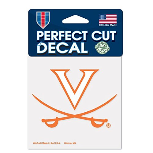WinCraft NCAA University of Virginia Perfect Cut Color Decal, 4