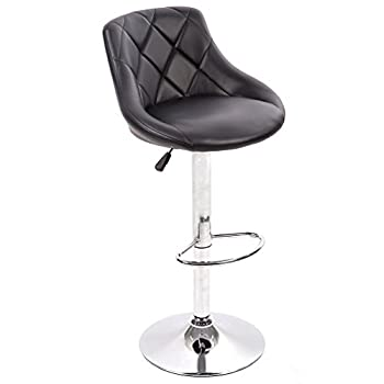 BestMassage PU Leather Bar Stools Modern Swivel Dinning Kitchen Chair, Set Of 2