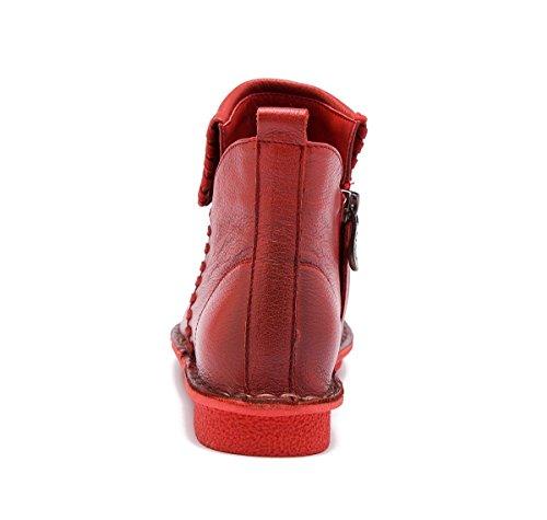 Trabajo Ocio Eur Cashmere eur39uk665 Genuina De Redonda Fiesta Más Pisos Piel 5 Cabeza Zapatos Antideslizantes Caliente Invierno Red uk Cortas 5 Mujer 38 Otoño Bajo Tacón Nuevo Botas Bombas Señoras Nvxie SwZq10Z