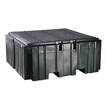 New Pig PAK735 Polyethylene IBC Spill Containment Pallet with Drain, 8500 lbs Load Capacity, 62