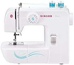 The SINGER Start 1304 sewing machine is a basic, simple, and easy-to-use mechanical sewing machine. It is a good choice for beginners thanks to 6 Built-in Stitches, all with pre-set stitch width and stitch length.  Just select your sti...