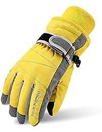 Ski Gloves for Kids - Windproof Snowboard Winter Warm Gloves Thermal Fleece Snow Gloves for Boys Girls