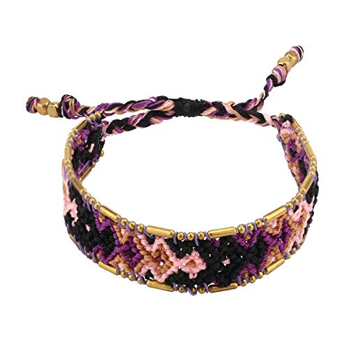 KELITCH Woven Friendship Bracelet Colorful Wide Bohemia Wrap Bracelets for Women ()