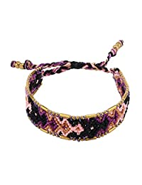 KELITCH Boho Handmade Woven Braided Friendship Bracelet Wristband for Mother's Day