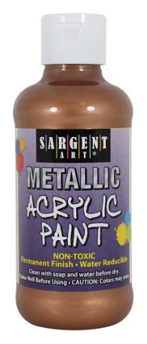 Sargent Art 25-2395 8-Ounce Metallic Acrylic Paint, Bronze by Sargent Art