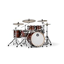 MAPEX AR628SFUWT Armory Series Studioease Fast 6-Piece Drum Shell Pack, Transparent Walnut