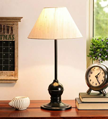 tu casa Metal Iron Table Lamp (Off White)