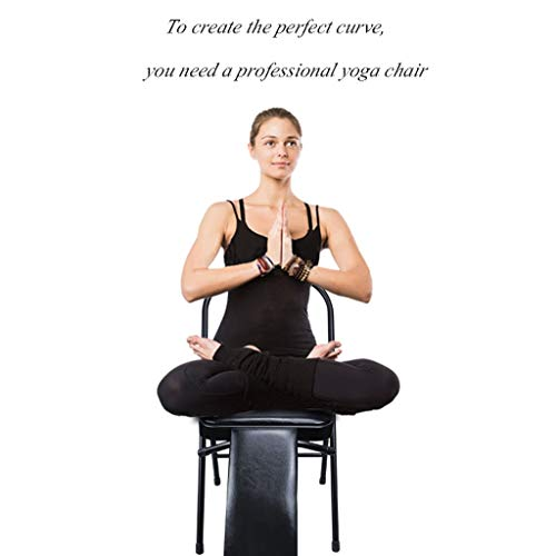 Sports Fitness Yoga Chair Folding Chair Fitness Chair Stool Home Folding Aids Bold Stool Iyengar Folding Chair Outdoor Fishing Chair (Load Weight: 150kg) Exercise Ball Chairs by PHSP (Image #1)