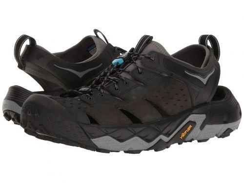 Hoka One One(ホカオネオネ) メンズ 男性用 シューズ 靴 サンダル フラット Tor Trafa - Anthracite/Black [並行輸入品] B07BMCD6C7 8.5 D - Medium