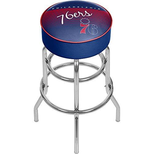 Trademark Global NBA Philadelphia 76ers Hardwood Classics Bar Stool, One Size, Chrome by Trademark Global
