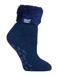 Heat Holders - Ladies Super Soft Thermal Lounge Slipper Bed Socks, 5-9 US