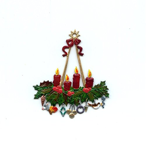 - Wilhelm Schweizer - Advent Candle Wreath - German Pewter Christmas Ornament