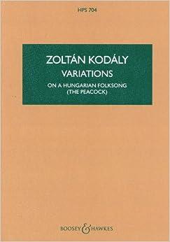 コダーイ: ハンガリーの民謡に基づく変奏曲 「孔雀」/ブージー & ホークス社/小型スコア